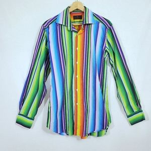 Etro Milano Multicolored Striped Dress Shirt